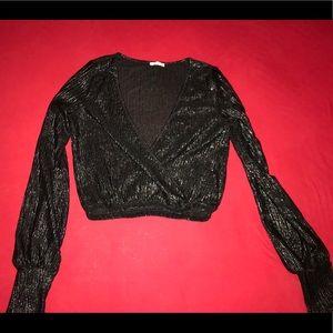 Zara crop blouse